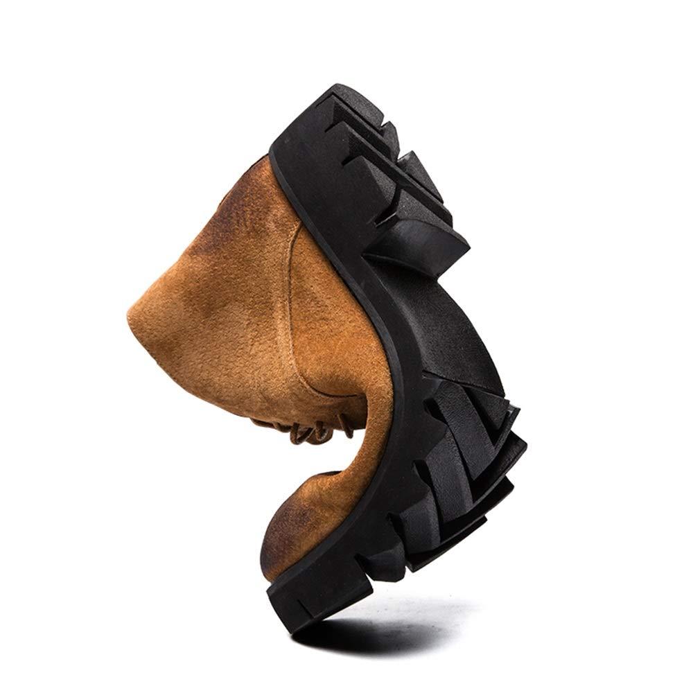 Herrenmode Winterstiefel Casual Jugend Klassischer Britischer Stil Faux Fleece Inside Inside Inside High Top Side Zipper Stiefel,Grille Schuhe (Farbe   Grau, Größe   40 EU)  c0873c