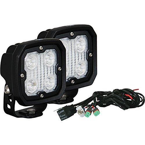 Vision X Lighting (DURA-410KIT) Kit Of 2 Duralux Work Light w/Harness, 4 LED, 10 Degree