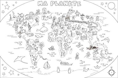 Coloriage Espace Planete.Poster Coloriage Geant Ma Planete Amazon Fr Cuisine Maison