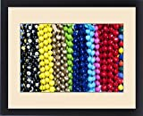 Framed Print of Hawaiian lei or necklaces display at market place