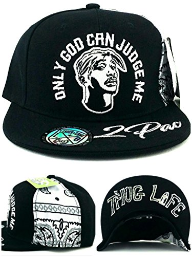 Tupac 2pac Only God Can Judge Me New Thug Life Black White Era Snapback Hat - Michigan St Chicago