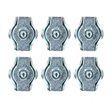 6mm Simplex Wire Rope/Cable Clamp Grips 6 Pack Zinc Plated