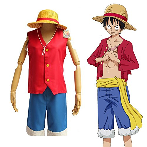One Piece Monkey D Luffy (One Piece Monkey D Luffy New World Costume Outfits Halloween & Cosplay Party S-XXL (XXL))