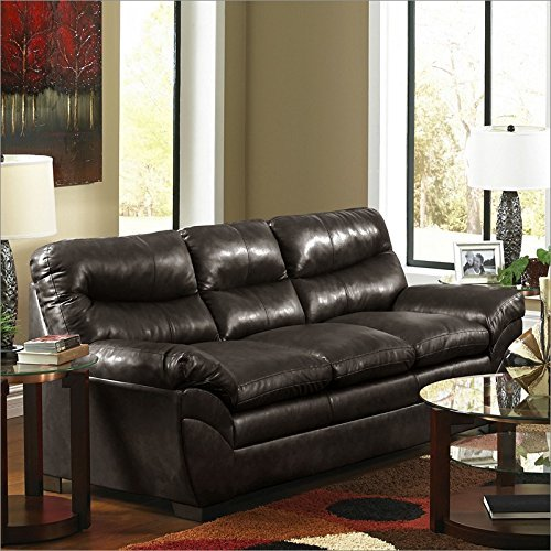 Simmons Upholstery 9515-03 Soho Espresso Bonded Leather Sofa