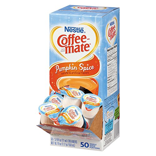 Nestle Coffee-Mate Pumpkin Spice Liquid Creamer, 50 Count Single Serving Tubs (Pack of 3)