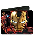 Buckle Down Kids' Marvel Iron Man Billfold Wallet, Iron Man