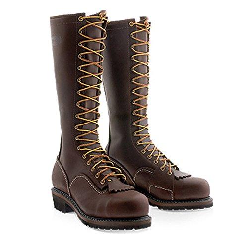 Wesco Voltfoe 16 Inche Lineman Boots Teen # 1270 Vibram Zool Ehbr57161270 Heren, Werkmeester, Ingenieur, Elektrisch, Highliner, Logger, Wandelen, Werk, Klimmen Waterdicht, Geïsoleerd