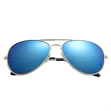 ASHOP Gafas de Sol de diseñador de Metal clásico Unisex (F ...
