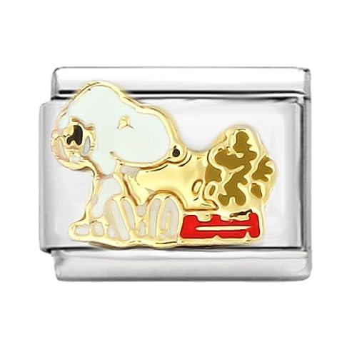AKKi jewelry Italian Charms Armband Classic glieder Italy Charm,Silber Gold Edelstahl Links Kult modele Blume Tiere Herz f/ür