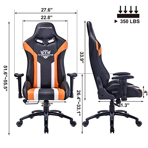 Happygame Racing Gaming Chair Oversized High Back