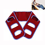 Transfer Board Belt Wheelchair Sliding Medical Lifting Sling Turner Patient Care Safety Mobility Aids Equipment Nursing Gait Belt for Elderly Disabled (Red)