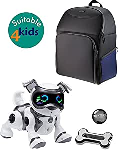 Navitech Black and Blue Case Cover Rucksack for the Teksta Voice Recognition Robot Puppy