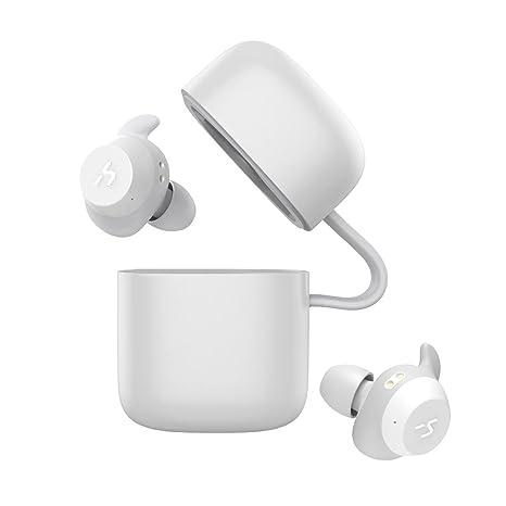 HAVIT TWS - Auriculares Inalámbricos 21 Horas Auriculares Bluetooth con Cargador Portátil Soporte de Inteligencia Artificial