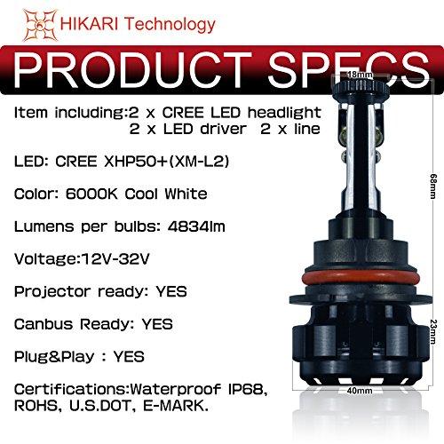 ★free Shipping★hikari Led Headlight Bulbs Conversion Kit