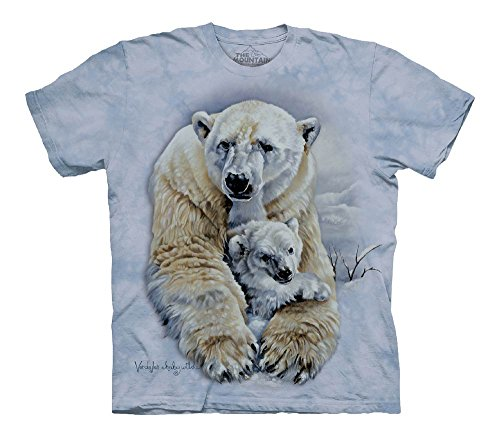 The Mountain Polar Bears Child T-Shirt, Blue, (Bear Organic Kids T-shirt)