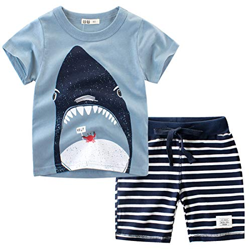 (Toddler Boys The Little Monster Truck Tee and Shorts Set 18M-7Y (2T,)