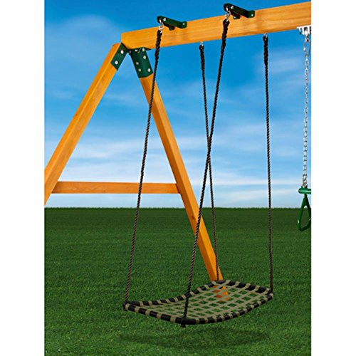 Gorilla Playsets Chill 'N Swing with Swing Brackets, Blac...
