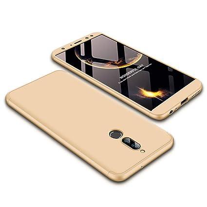 JMGoodstore Funda Huawei Mate 10 Lite,Carcasa Huawei Mate 10 Lite,Funda 360 Grados Integral para Ambas Caras+Cristal Templado,[ 360°] 3 in 1 Slim Fit ...