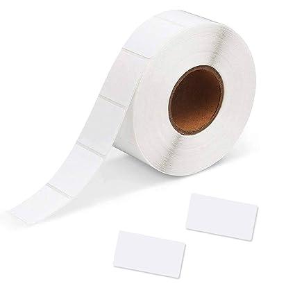 YOTINO 1000 Piezas Etiquetas Adhesivas Blancas, 30 * 60 mm ...