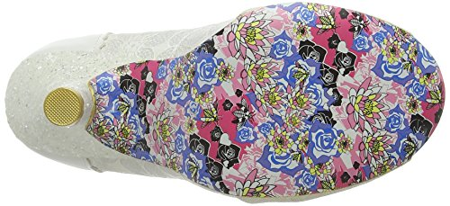 Irregular Choice Smartie Pants - punta cerrada de sintético mujer Blanco (Cream)