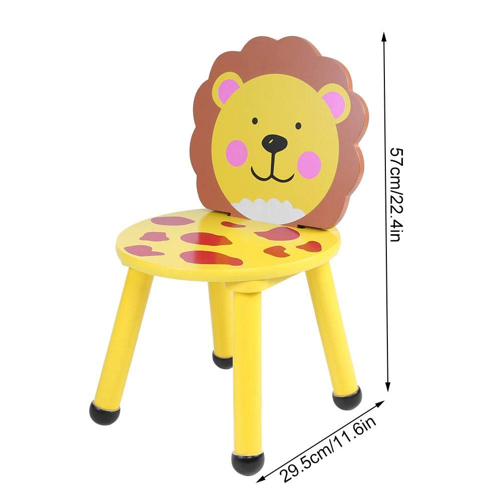 斑马靠背椅 Jeffergarden Kids Chairs Backrest Chair Solid Hard Wood Cute Cartoon Light-Weight Animal Chair Furniture for Toddlers Children