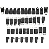 40 Pcs USB Adapter Kit, Mini Changers Adapter Converter Connectors USB Male to Female Micro USB