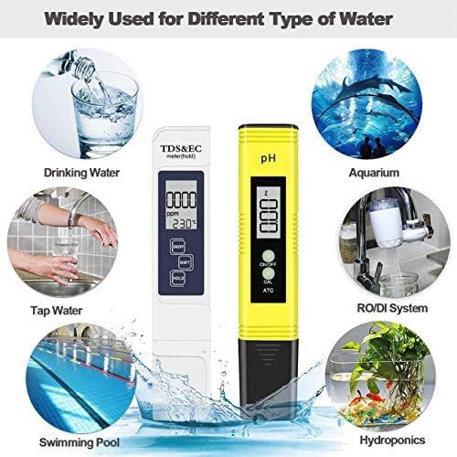 Probador de Medidor PH TDS Tester TDS EC Temperatura PH Medición de Agua Digital para Agua Potable Doméstica 7