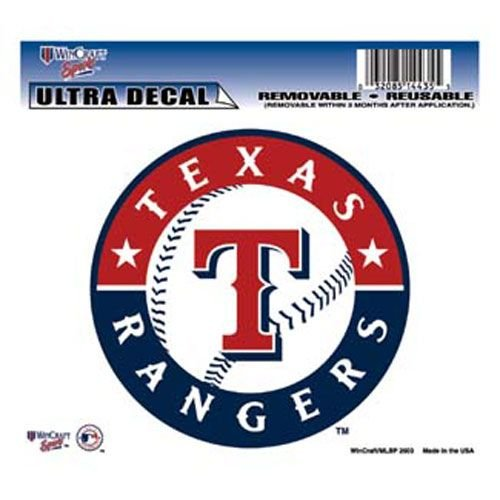 WinCraft MLB Texas Rangers Multi-Use Colored Decal, 5