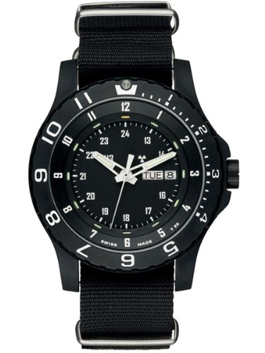 Bezel Pvd Strap (Traser Military Watch (MIL-SPEC) with NATO Strap (P6600 Type 6 MIL-G))