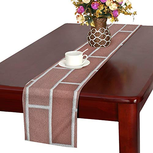 Jnseff Wall Texture Pattern Color Template Table Runner, Kitchen Dining Table Runner 16 X 72 Inch For Dinner Parties, Events, Decor by Jnseff