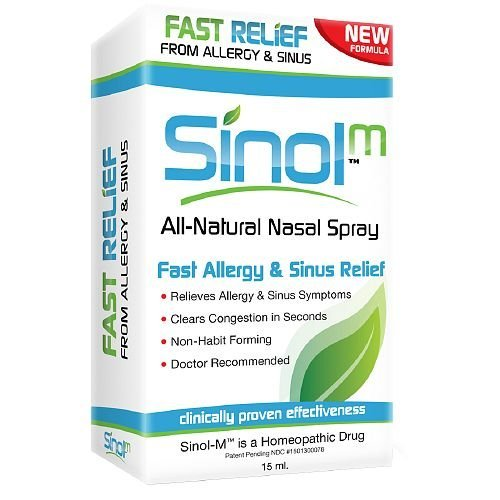 Sinol-M Allergy & Sinus Relief Spray 15 ml (Pack of 8) -  315013000078