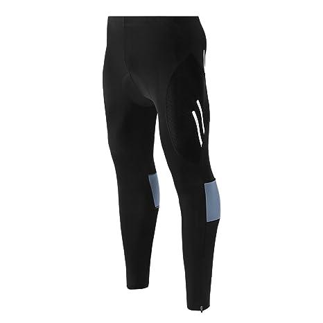 Men/'s Bicycle Cycling Pants Bike Padded Tights Cycling Pant Trousers M-3XL Black