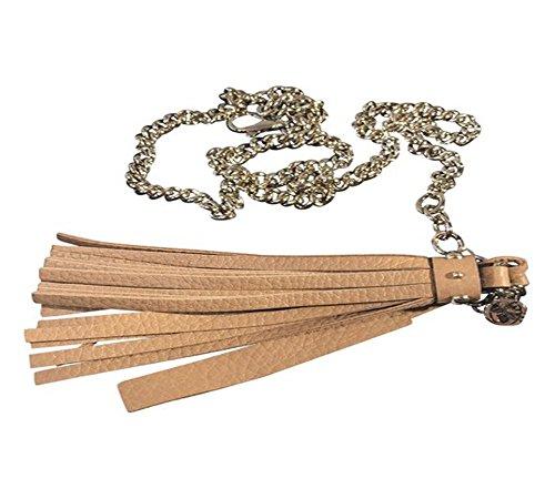ebb378aa759 Gucci Women s Leather Tassel Chain Belt 388992 Camelia Beige (32)
