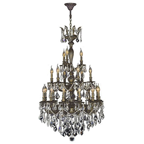 Worldwide Lighting W83327B29 Versailles Collection 21 Light Antique Bronze Finish (Versailles Collection Chandelier)