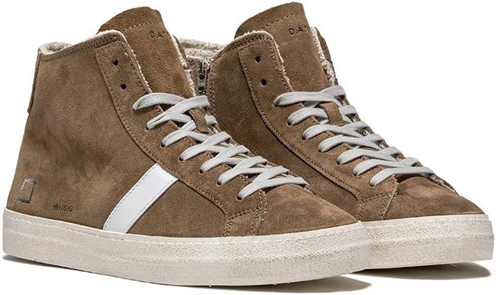 Zapatos para Hombres Zapatillas de Deporte D.A.T.E en Ante Beige 311-HH-SA-SA