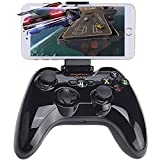 Wireless Gamepad Controller, iOS MFi Gaming Joystick Joypad with Clamp Holder Compatible with Apple iPhone Xs, XR X, 8 Plus, 8, 7 Plus, 7 6S 6 5S 5, iPad, iPad Pro Air Mini, Apple TV - Black
