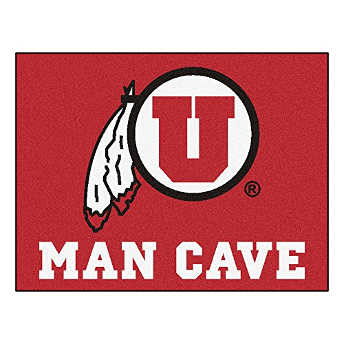 FANMATS 14705 University of Utah Nylon Universal Man Cave All-Star Mat