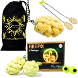 Pro PAPAYA Wick Large Fire Poi - Professional Kevlar Fire Poi Set + Travel Bag!