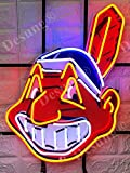 """Desung 20""""x15"""" Cleveland Sports Team Indian Logo Neon Sign Light (MultipleSizes) HD Vivid Printing Technology Man Cave Beer Bar Pub Handmade Real Glass Tube Lamp NT24"""
