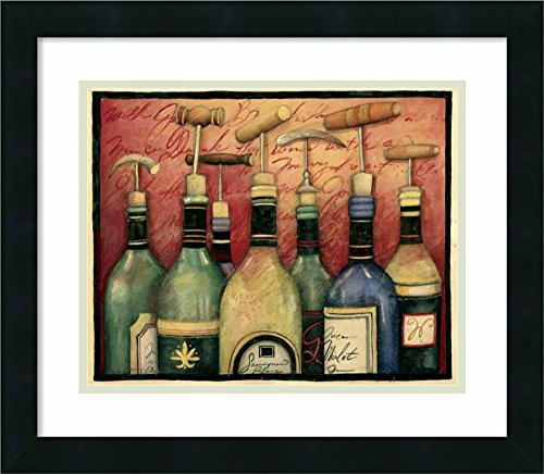 Cork Screws and Wine Framed Art Print by Susan Winget