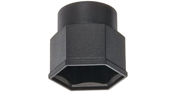 Poppelmann 10100220000 Pack of 100 Black Kapsto GPN 1010 SW 22 Polyethylene Snap-On Cap Width Across Flats 22 mm