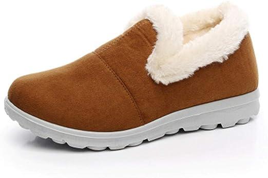 Zapatillas De Casa,Zapatos De Algodón para El Hogar De Invierno Botas De Nieve Cálidas De Gamuza Zapatos De ...