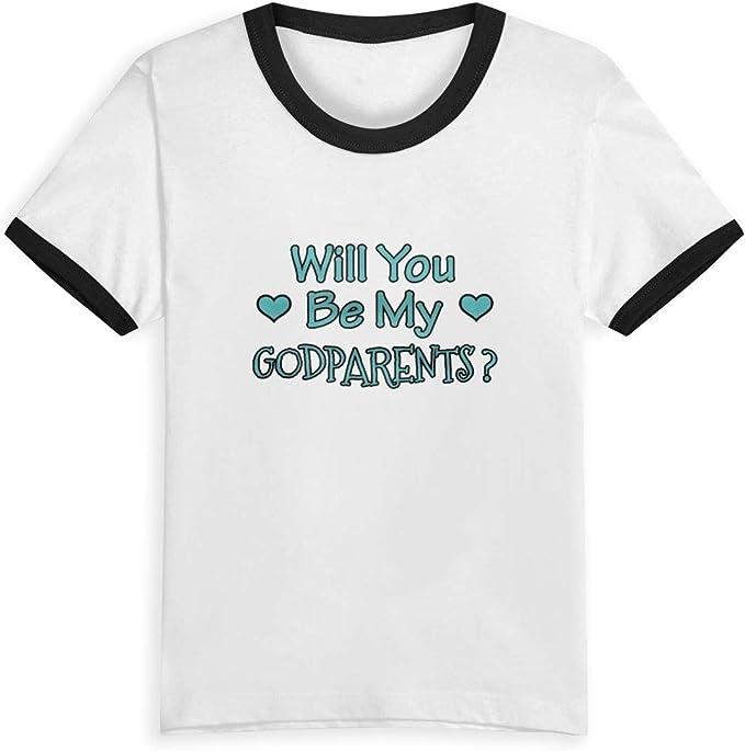 Queen Elena Will You Be My Godparents, 2-6Y Playera de algodón con ...