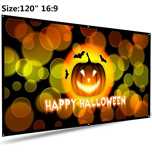 "Projector Screen, Auledio Portable Outdoor Movie Screen 120"" 16:9 Home Cinema Theater Projection Screen"