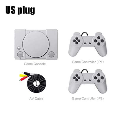 Classic Game Console 8-bit PS1 Mini Home Retro Double Battle Game Console 620 Action Game Enthusiast Entertainment System: Home & Kitchen [5Bkhe0503401]