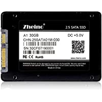 Zheino 2.5 Inch Sata III 30gb SSD Solid State Drive (7mm) for Desktop Laptop