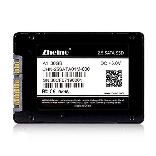 Zheino 2.5 Inch Sata III 30gb SSD Solid State Drive (7mm) for Desktop Laptop