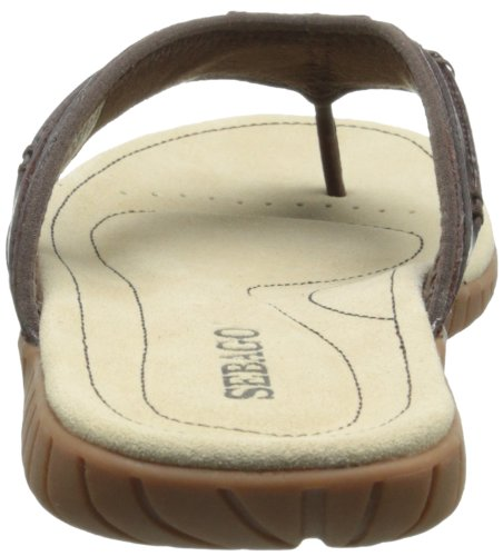 Sebago Mens Becket Thong Sandal Dark Brown