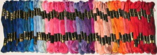ThreadNanny 100 Anchor Cotton Hand Embroidery Floss Thread Cross Stitch Threads Floss/skeins from by ThreadNanny