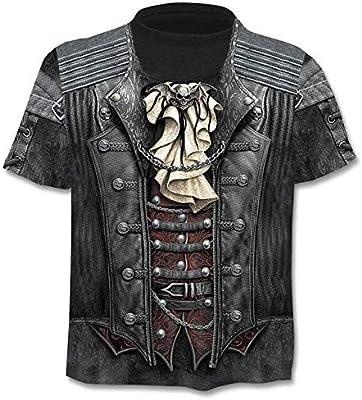 Camiseta Cráneo Camiseta Esqueleto Camiseta Arma Camiseta Gótica Camisas Punk Camiseta Vintage Rock Camisetas 3D Camiseta Hombre Estilos XXXL 0674: Amazon.es: Deportes y aire libre